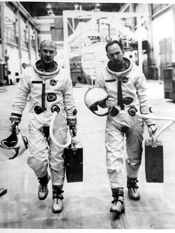 Training for Project Gemini: Buzz Aldrin and Ted Freeman