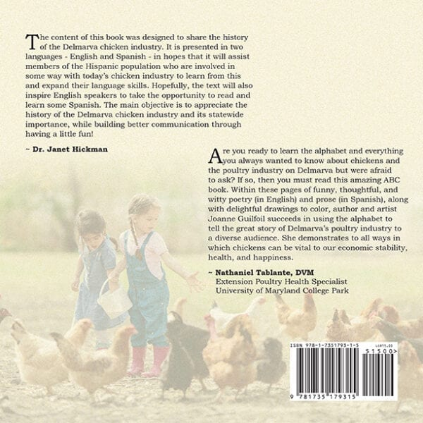 The ABCs of Chickens on Delmarva Back Cover